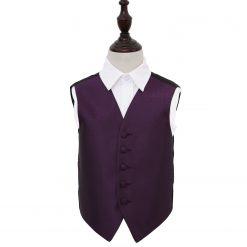 Cadbury Purple Greek Key Wedding Waistcoat for Boys