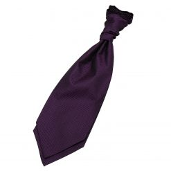 Cadbury Purple Greek Key Pre-Tied Wedding Cravat