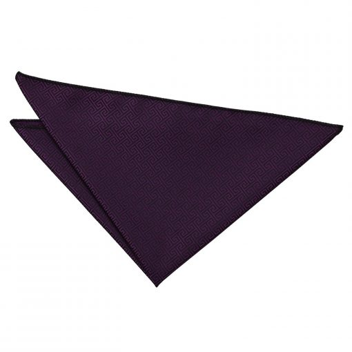 Cadbury Purple Greek Key Handkerchief / Pocket Square