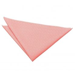 Coral Greek Key Handkerchief / Pocket Square