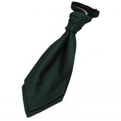 Dark Green Greek Key Pre-Tied Wedding Cravat for Boys