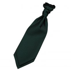 Dark Green Greek Key Pre-Tied Wedding Cravat