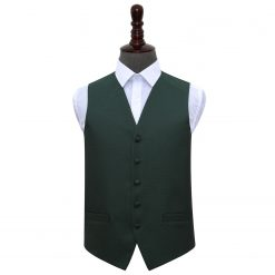 Dark Green Greek Key Wedding Waistcoat