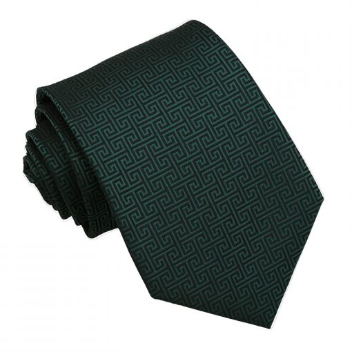 Dark Green Greek Key Classic Tie