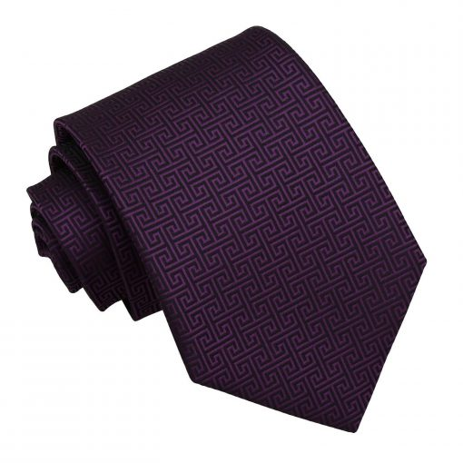 Cadbury Purple Greek Key Classic Tie
