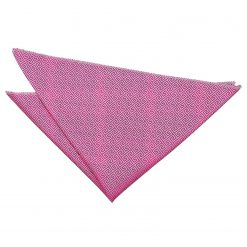 Fuchsia Pink Greek Key Handkerchief / Pocket Square