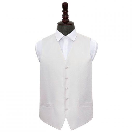 Ivory Greek Key Wedding Waistcoat