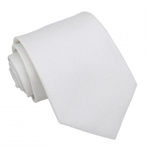 Ivory Greek Key Classic Tie