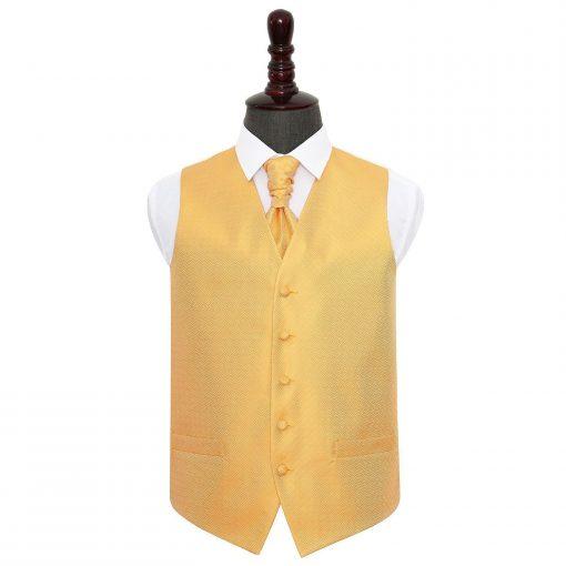 Marigold Greek Key Wedding Waistcoat & Cravat Set