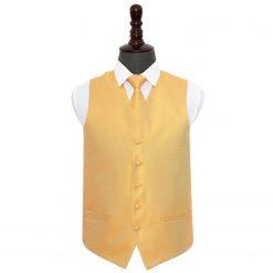 Marigold Greek Key Wedding Waistcoat & Tie Set