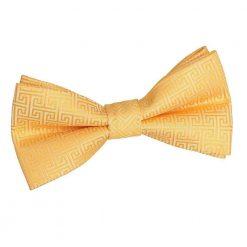 Marigold Greek Key Pre-Tied Bow Tie