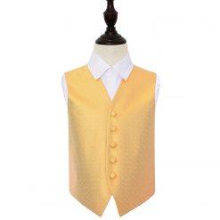 Marigold Greek Key Wedding Waistcoat for Boys
