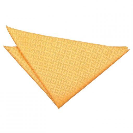 Marigold Greek Key Handkerchief / Pocket Square