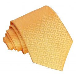 Marigold Greek Key Classic Tie