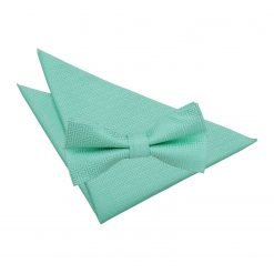 Mint Green Greek Key Bow Tie & Pocket Square Set
