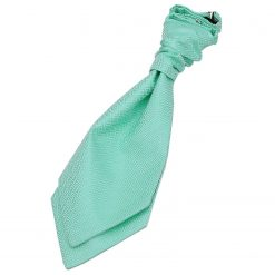 Mint Green Greek Key Pre-Tied Wedding Cravat for Boys
