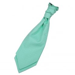 Mint Green Greek Key Pre-Tied Wedding Cravat