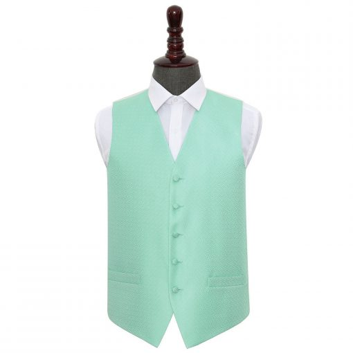 Mint Green Greek Key Wedding Waistcoat