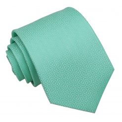 Mint Green Greek Key Classic Tie