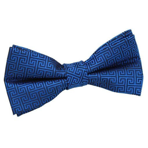 Royal Blue Greek Key Pre-Tied Bow Tie