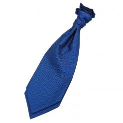 Royal Blue Greek Key Pre-Tied Wedding Cravat