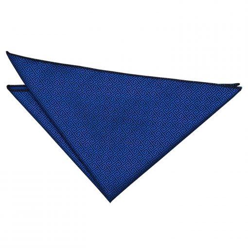 Royal Blue Greek Key Handkerchief / Pocket Square
