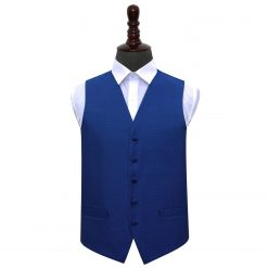 Royal Blue Greek Key Wedding Waistcoat