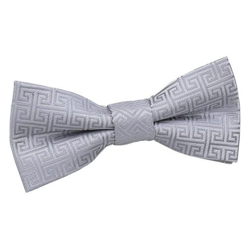 Black Greek Key Pre-Tied Bow Tie for Boys