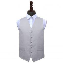 Silver Greek Key Wedding Waistcoat