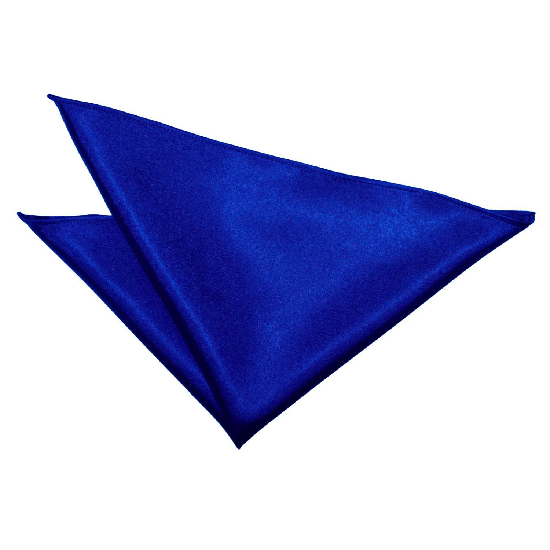 Plain Royal Blue Satin Handkerchief Pocket Square