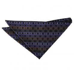 Black, Purple & Bronze Honeycomb Polka Dot Pocket Square