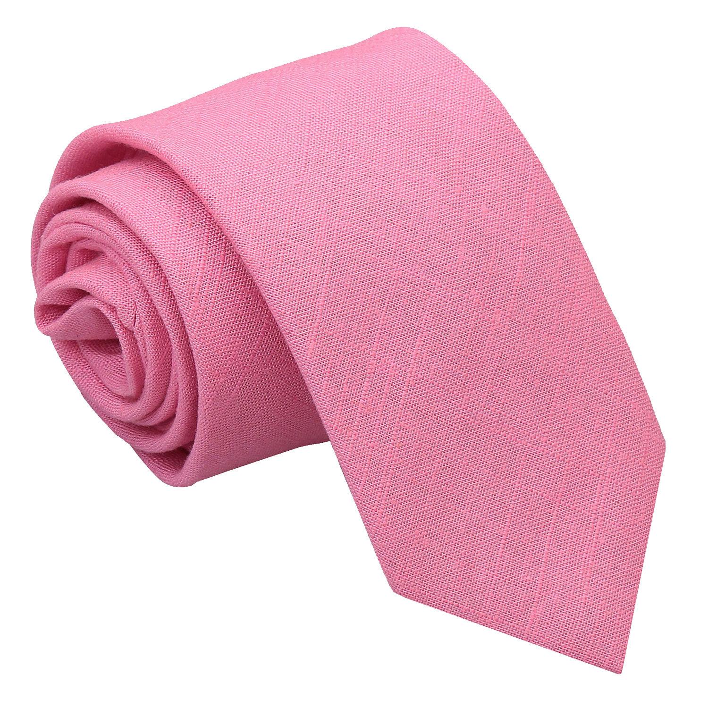 JA Hopsack Linen Carnation Pink Slim Tie