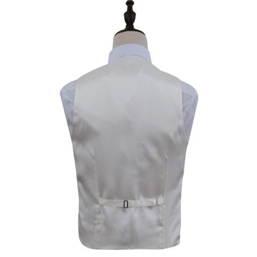 Champagne Plain Satin Wedding Waistcoat & Cravat Set