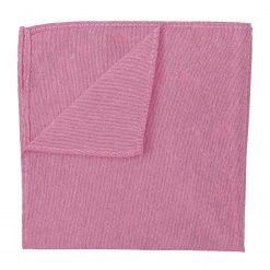 Amaranth Pink Chambray Cotton Pocket Square