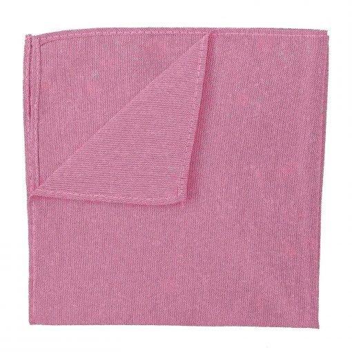 Amaranth Pink Chambray Cotton Handkerchief / Pocket Square