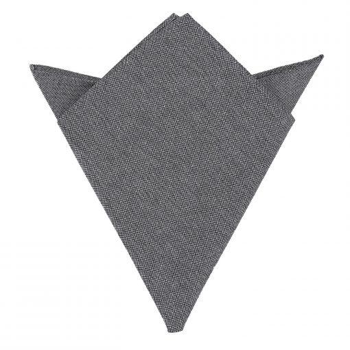 Charcoal Chambray Cotton Handkerchief / Pocket Square