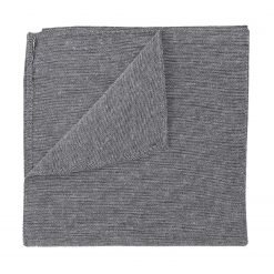 Charcoal Chambray Cotton Handkerchief / Pocket Square