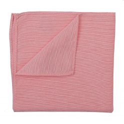 Coral Chambray Cotton Handkerchief / Pocket Square