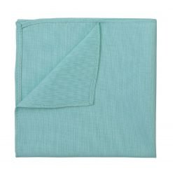 Light Turquoise Chambray Cotton Pocket Square