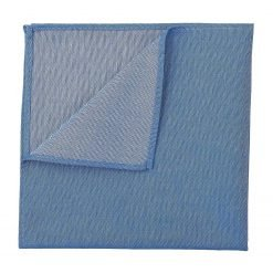Parisian Blue Chambray Cotton Handkerchief / Pocket Square