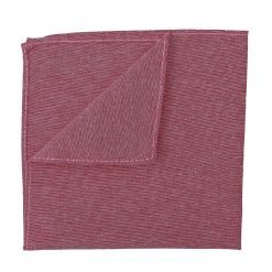 Red Chambray Cotton Handkerchief / Pocket Square