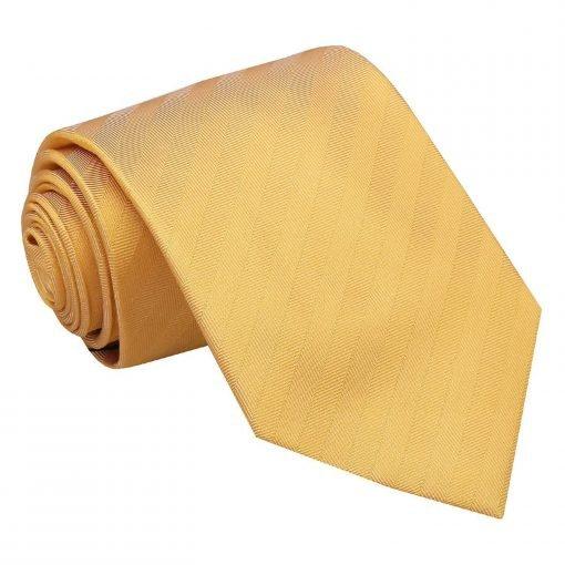 Primrose Yellow Herringbone Silk Classic Tie