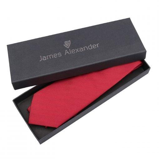 Red Herringbone Silk Classic Tie