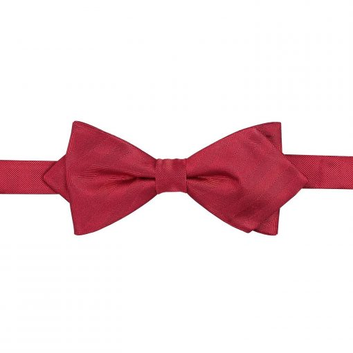 Burgundy Herringbone Silk Thistle Self Tie Bow Tie