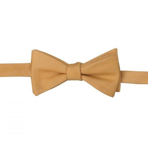 Bottle Green Ottoman Wool Thistle Self Tie Bow Tie