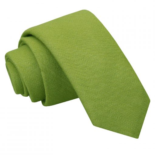 Olive Green Ottoman Wool Slim Tie