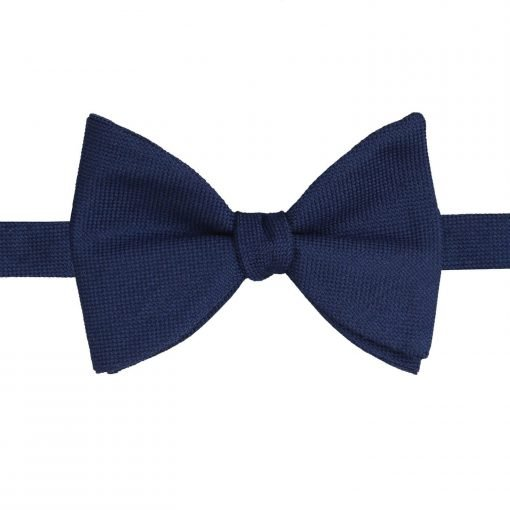 Black Panama Cashmere Wool Butterfly Self Tie Bow Tie