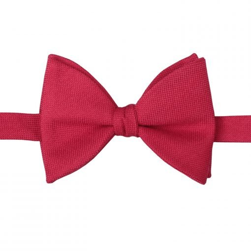 Black Panama Cashmere Wool Butterfly Self Tie Bow Tie