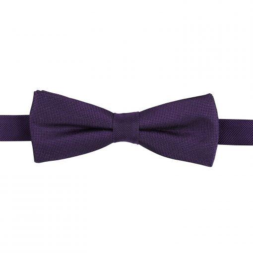 Cadbury Purple Panama Silk Batwing Pre-Tied Bow Tie