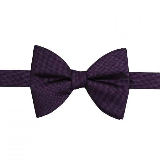 Cadbury Purple Panama Silk Butterfly Self Tie Bow Tie